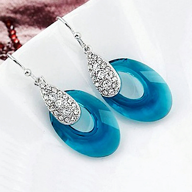 Elegantné náušnice SWAROVSKI CRYSTAL 4farby Luxury Drop Earrings 4colors