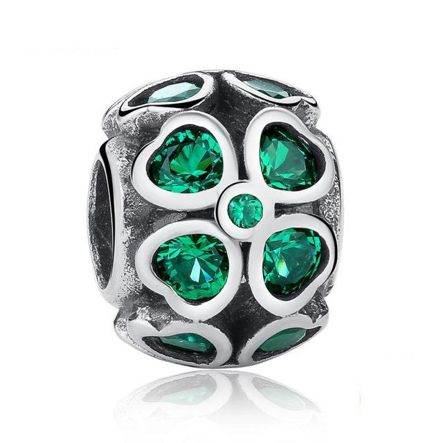 Pandora Silver Four-Leaf Clover Bead DIY Jewelry