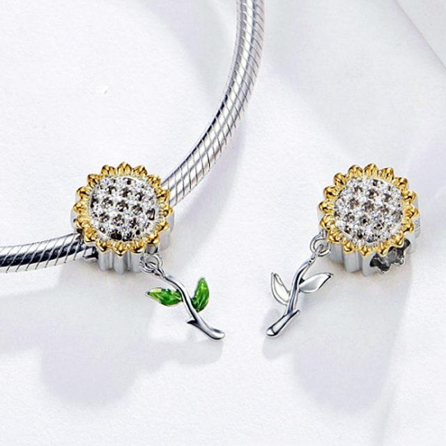 Strieborný prívesok SLNEČNICA Silver SUNFLOWER Pendant DIY Jewelry