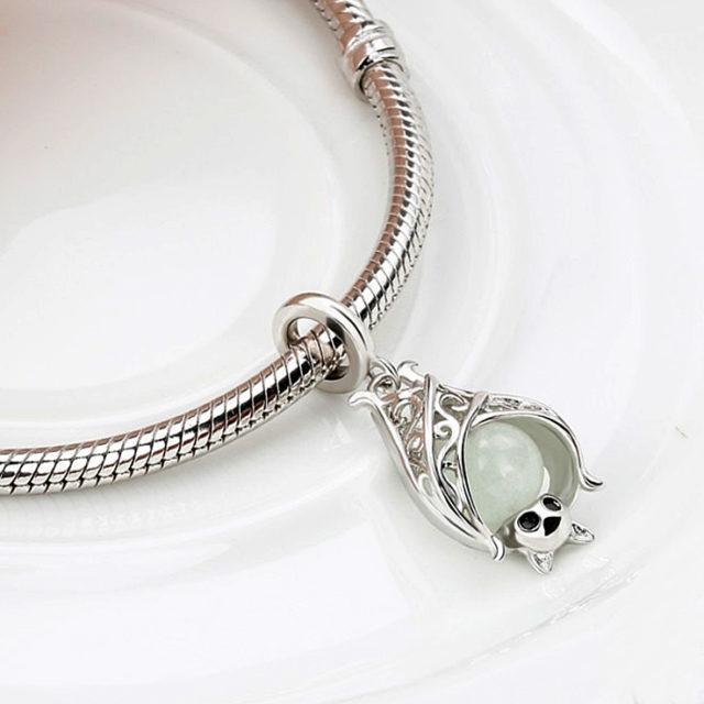 Strieborný prívesok NETOPIER Silver BAT Luminous Pendant DIY Jewelry