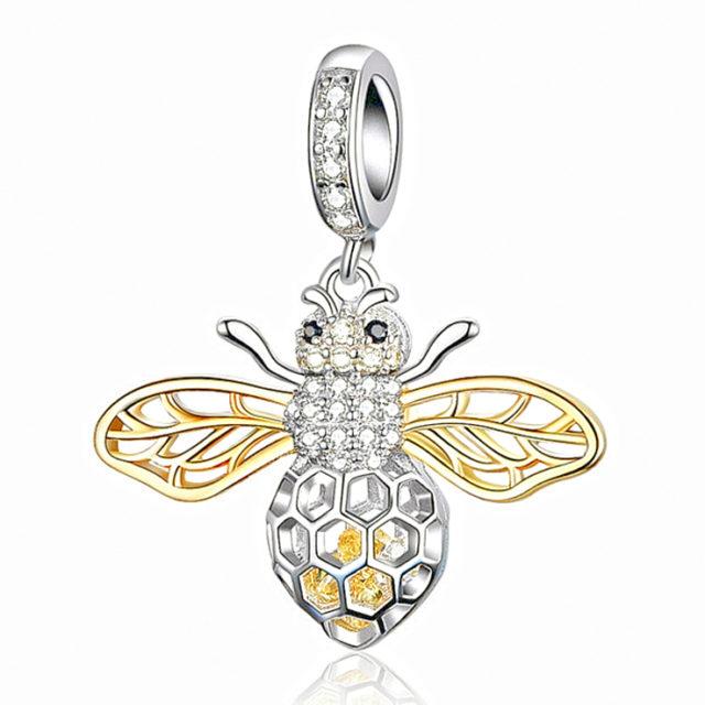 VČELA strieborný prívesok štýl Pandora BEE Silver Pendant DIY Jewelry